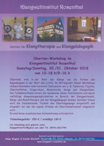 Oberton-Workshop am 20./21. Oktober in unserem Klangweltinstitut Rosenthal